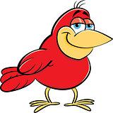 Cartoon Smiling Bird