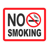 No Smoking sign icon. Cigarette symbol. Graphic design element. Flat no smoking symbol on white background. Vector