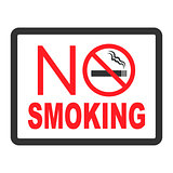 No smoking black color sign on white background