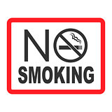 No smoking sign. No smoke icon. Stop smoking symbol. Vector illustration. Icon for public places.