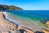 Summer sea beach Contrada Mattinatella, Gargano peninsula in Pug