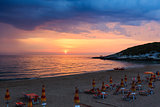 Summer sunset Sfinale beach (Gargano peninsula in Puglia, Italy)