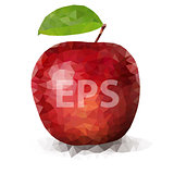 Red Polygon Apple 01 [Converted]
