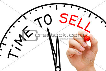 Time to Sell Clock Concept