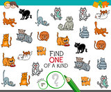 find one of a kind picture with cat character