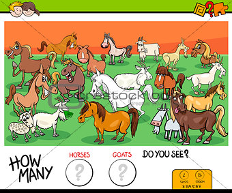 counting horses and goats educational game for kids