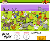 counting donkeys and chickens educational game