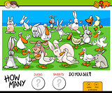 counting ducks and rabbits educational game for kids