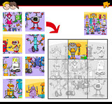 jigsaw puzzles with funny robot characters