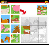 jigsaw puzzles with funny farm animals