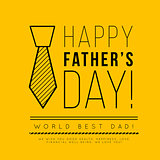 Happy father's day. Congratulation in the fashionable style of minimalism with geometric shapes
