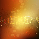 Abstract DNA strands background