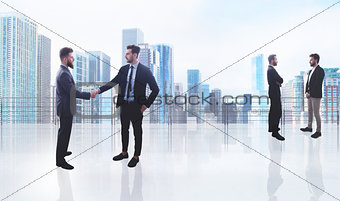 Business handshake. Concept of teamwork and partnership