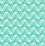 Seamless abstract geometric pattern, green circle background, vector universal wallpaper
