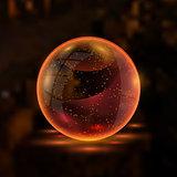 3d orange textured vector sphere.