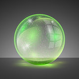 Vector illustration of transparent clear shiny crystal ball logo.
