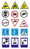 UFO road signs Vector Collection. Part 2