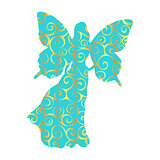 Fairy pattern silhouette fairytale fantasy magical