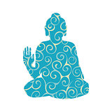 Buddha pattern silhouette traditional religion spirituality