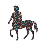 Centaur pattern silhouette ancient mythology fantasy