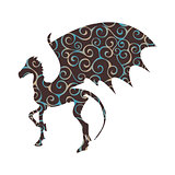 Thestral skeleton horse pattern silhouette mythical animal fanta