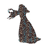 Witchcraft witch magical pattern silhouette fantasy