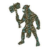 Orc pattern silhouette monster villain fantasy