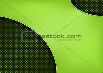 Neon Shape on Metallic Dotted Grid Background