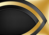 Modern Background with Gold and Black Layers