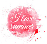 Pink summer tropical background
