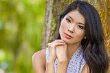 Beautiful Chinese Asian Young Woman Girl Outside