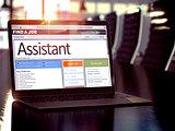 Job Opening Assistant. 3D.