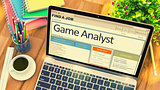 Game Analyst Job Vacancy. 3D.