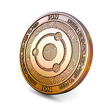 Ion - Cryptocurrency Coin. 3D rendering