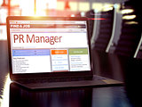 Job Opening PR Manager. 3D.