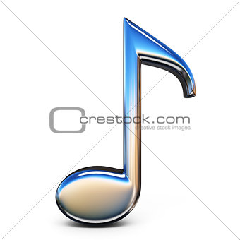 Music sign eighth note 3D