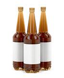 Big beer bottles with blank labels