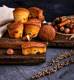 baked muffins with dry fruits and raisins