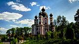 Exterior view to Curchi orthodox monastery, Orhei, Moldova