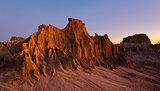 Sculpted landforms in the desert