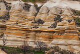 Eroded stone cliffs