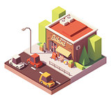 Vector isometric beach shop