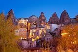 Night Goreme city, Turkey