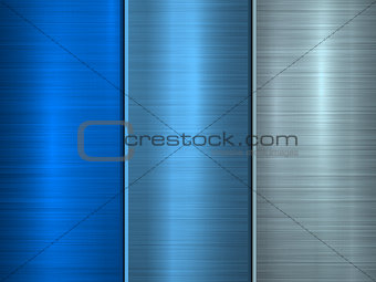 Blue Technology Metal Background