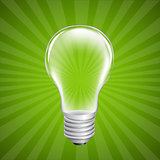 Bulb With Sunburst Background