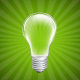 Bulb With Sunburst Background