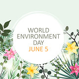 World environment day concept background. Vector Illustration