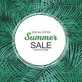 Summer Sale concept. Vector Illustration
