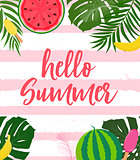 Hello Summer Background. Vector Illustration