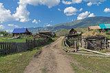 Tungur village. Altai, Russia.